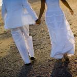 Bride and Groom on Emerald Isle Beach