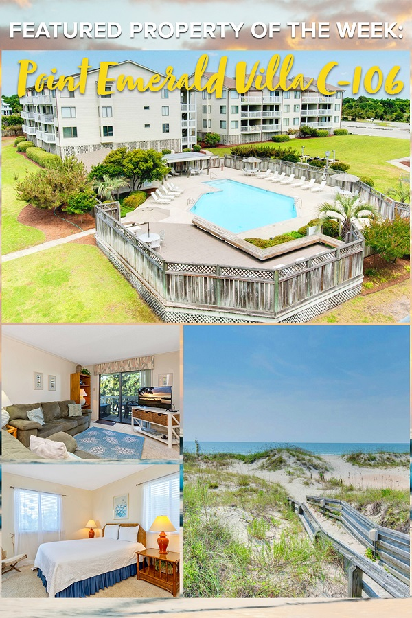 Point Emerald Villa C-106 - Emerald Isle Realty Featured Property of the Week