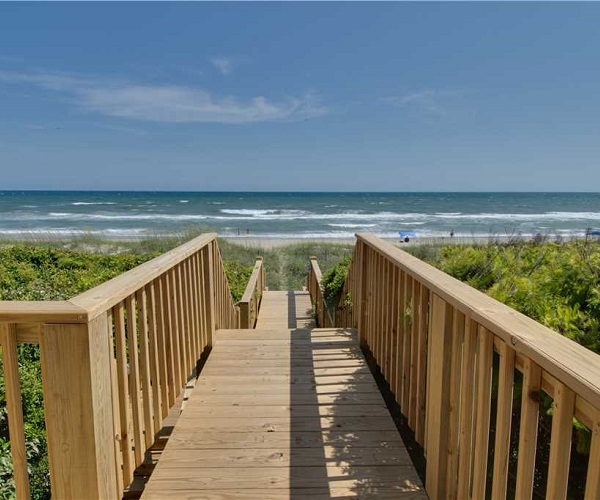 Nonno's Dream Walkway to Beach | Pine Knoll Shores Vacation Rental | Emerald Isle Realty