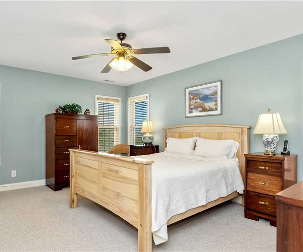 Nonno's Dream Bedroom | Pine Knoll Shores Vacation Rental | Emerald Isle Realty