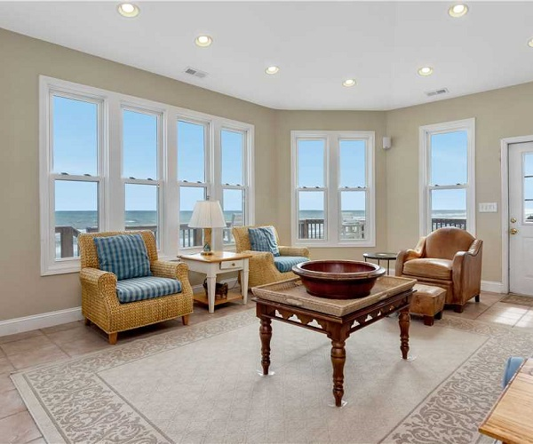 Nonno's Dream Living Room | Pine Knoll Shores Vacation Rental | Emerald Isle Realty