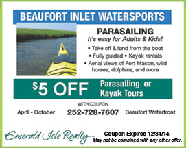 Watersports Coupon Beaufort Waterfront