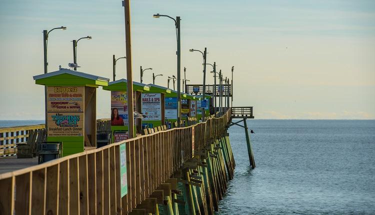 Cast a line off Bogue Inlet Pier