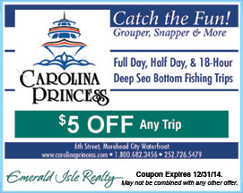 Carolina Princess Coupon Fishing Trips