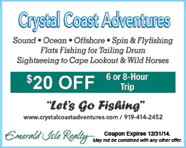 Crystal Coast Adventures Coupon Fishing & Sightseeing
