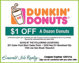 Dunkin Donuts Cedar Point Morehead City Beufort NC