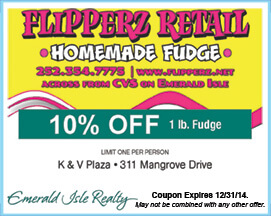 Flipperz Retail Coupon Emerald Isle NC