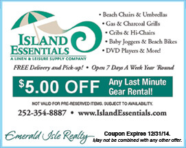 Island Essentials Rental Gear Coupon Emerald Isle NC