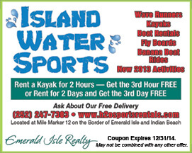 Island Water Sports Coupon Emerald Isle and Indian Beach
