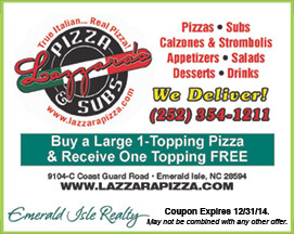 Lazzaras Pizza & Subs Coupon Emerald Isle NC