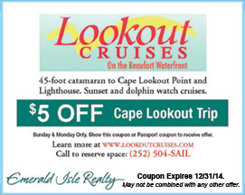Lookout Cruises Coupon for Cape Lookout Trip