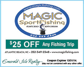 Magic Sport Fishing Coupon for any Fishing Trip Atlantic Beach NC