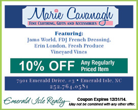 Marie Cavanagh Clothing, Gifts and Accessories Coupon Emerald Isle NC