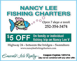 Nancy Lee Fishing Charters Coupon
