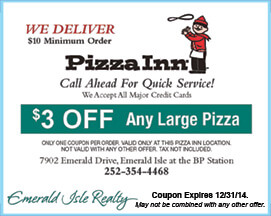 Pizza Inn Coupon Emerald Isle NC