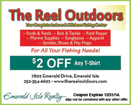The Reel Outdoors Coupon Emerald Isle NC