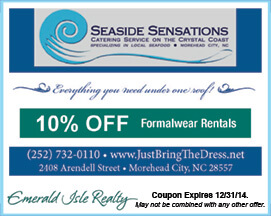 Seaside Sensations Formalwear Rentals Coupon Morehead City NC