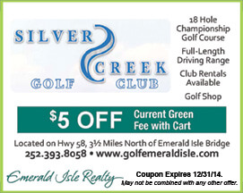Silver Creek Golf Club Coupon Emerald Isle NC
