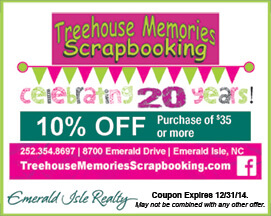 Treehouse Memories Scrapbooking Coupon Emerald Isle NC