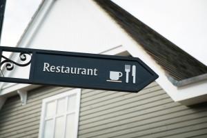 6-19-2014 Rainy Day - Restaurant Sign