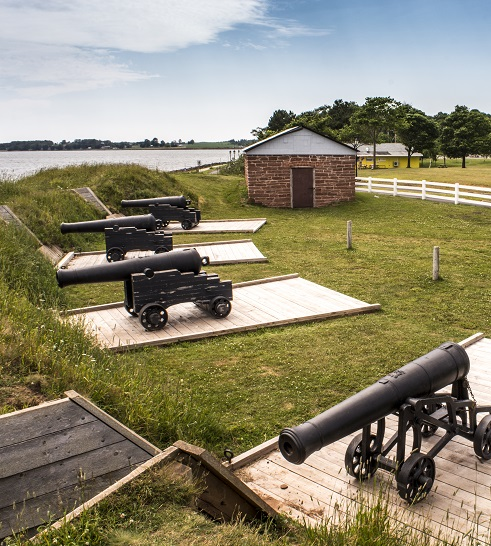Cannons at Fort Macon State Park