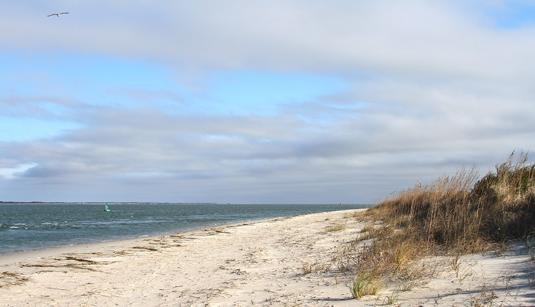 Beaches at Fort Macon State Park in Atlantic Beach, North Carolina