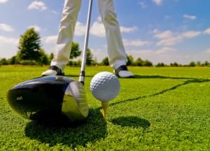Teeing Off on Golf Course in Emerald Isle, NC