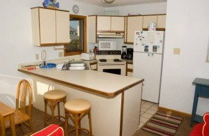 Surfers Watch Vacation Rental Kitchen