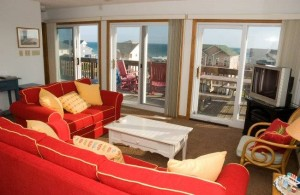 Surfers Watch Vacation Rental Living Room