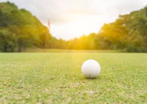 Golf Ball on green in Emerald Isle