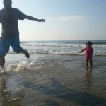 Father Daughter at Beach