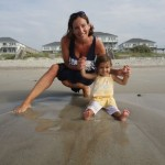 Mother Daughter on Beach