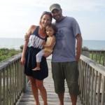 Family on Walkway to Beach