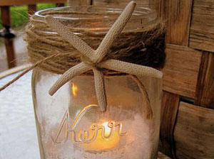 Beach Crafts Starfish Candle