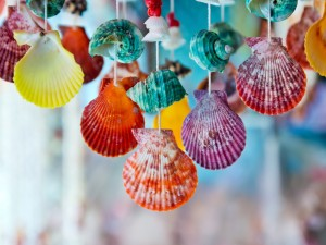 Beach Crafts Seashell Wind Chimes