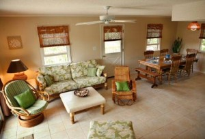 Bobby's Beach Barn Vacation Rental Living Area