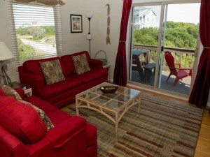 Heverly Heaven East Vacation Rental Living Room in Emerald Isle NC