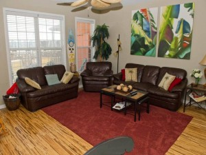 Gull Cottage East Vacation Rental Living Room in Emerald Isle NC