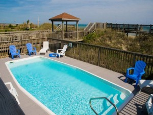 Gull Cottage EastVacation Rental Swimming Pool in Emerald Isle NC