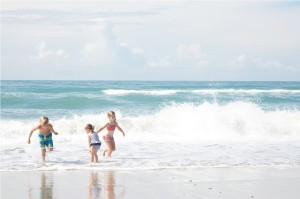 Kids Playing on Emerald Isle Beach