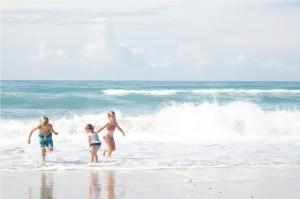 Kids Playing on Emerald Isle Beach