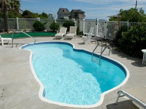 Coral Treasure Vacation Rental Pool in Emerald Isle NC