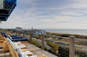 Tucked Away Vacation Rental Deck in Emerald Isle NC
