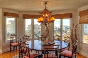 Tucked Away Vacation Rental Dining Room in Emerald Isle NC