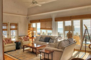 Tucked Away Living Room Vacation Rental Emerald Isle NC