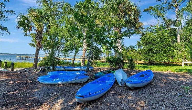Kayaking on Bogue Sound