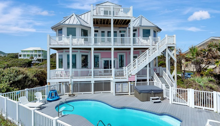 1 Tickled Pink - Oceanfront Vacation Rental in Emerald Isle, NC