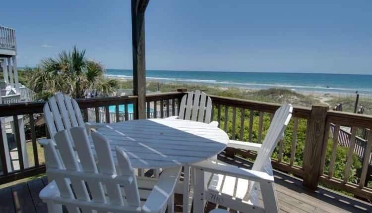 Dine out on the deck at your vacation rental
