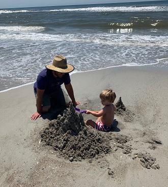 Build a sandcastle on Emerald Isle beaches