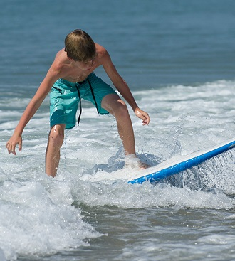 Ride the waves on Emerald Isle's beautiful beaches